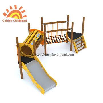 HPL Wooden Tube Slide Park Equipment Unit