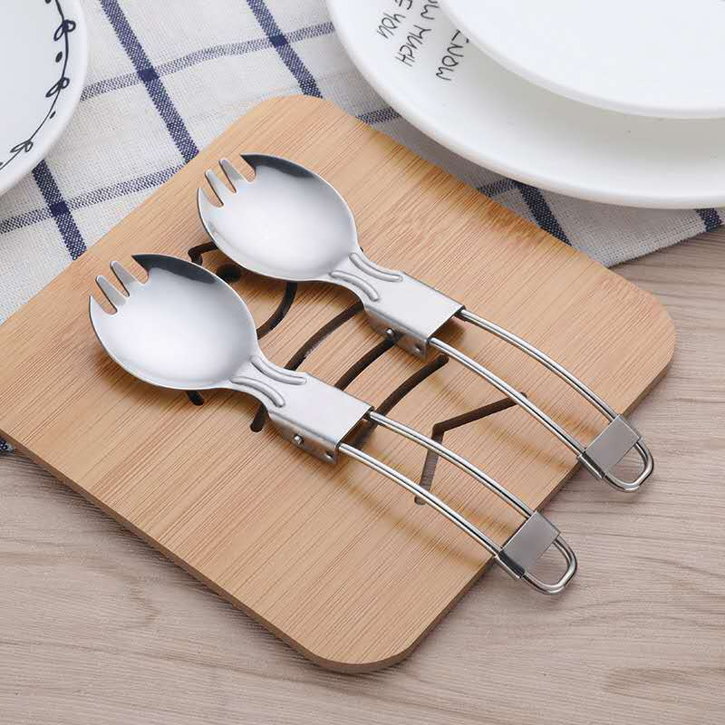 18/8 Refined Stainless Steel Folding Spoon