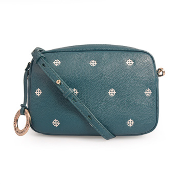 Female Retro Portable Small Square Leather Crossbody Bag