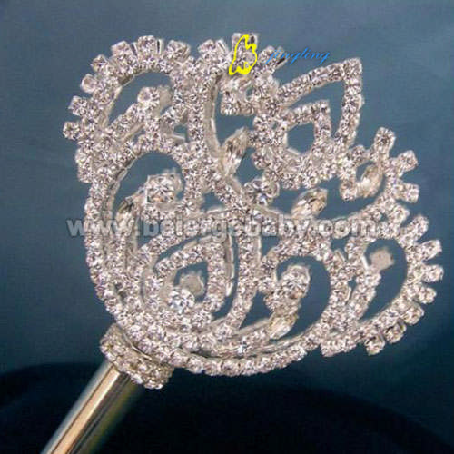 pageant scepter silver plated SC-07