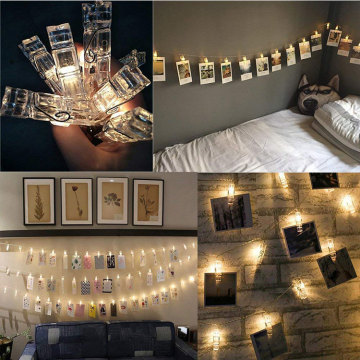 Atacado Led Metal Photo Clip String Luzes