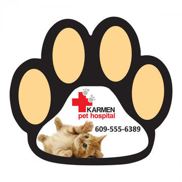 Custom Dog Paw Magnet Car Sticker
