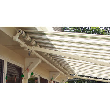Retractable arms awning 3.6*1.5M Green/White Stripes
