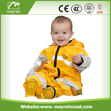 Waterproof Reflective Polyester Kids Rainsuits