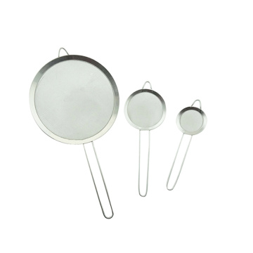Fine Mesh Silver Strainers for Kitchen