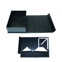 Black Innovative Clothes Folding Packaging Box with Magnet