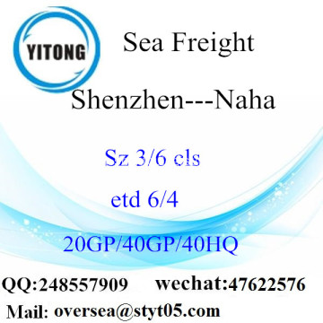 Shenzhen Port Sea Freight Shipping To Naha