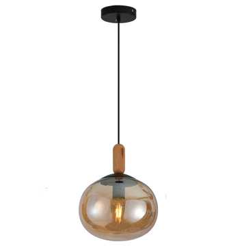 Modern 1Light Glass amber Ball Hanging Pendant lamp