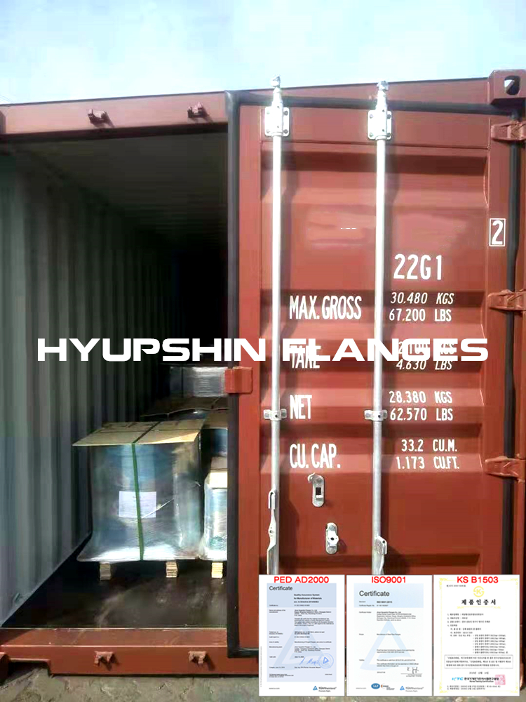 Hyupshin Flanges Shipping Eu Sea Shipment