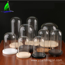 craft display glass dome house with base