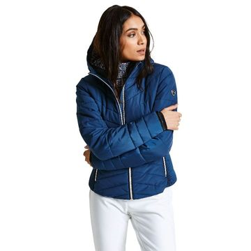 Women ski quilted jacket