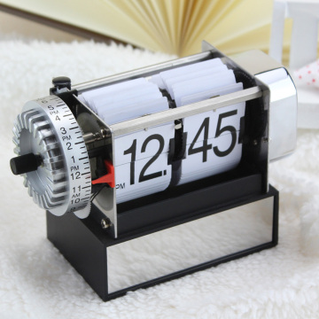 Small White Alarm Flip Clock For Decor