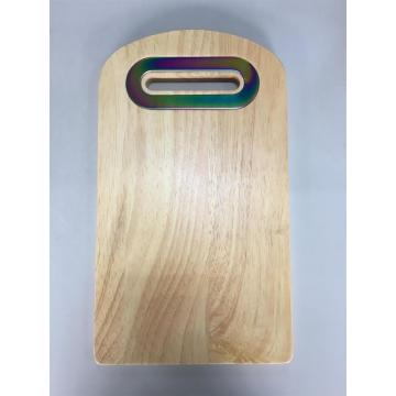 wood chopping board with centered handle