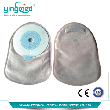Disposable one-piece closed ostomy pouch