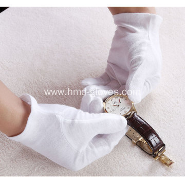 White Cotton Inspection Lisle Gloves