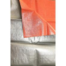 heavy duty PE tarpaulin coloered on both sides
