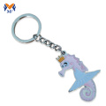 Metal custom logo cute enamel animals keychain