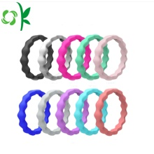 Wavy Silicone Ring Personality Best Quality Wedding Rings