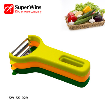3-Set Non-Slip Handles Folding Fruit Peeler