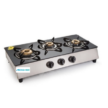 Glen 3 Burners SS Plus Glass Gas Cooktop