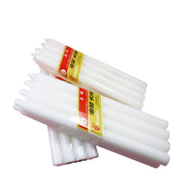 28g White Cheap Straight Candle with Cellophane
