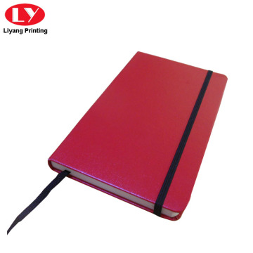 Custom Printed Red PU Brand Name Notebook