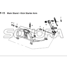F-15 Main Stand Kick Starter Arm JET 14 XS175T-2 For SYM Spare Part Top Quality