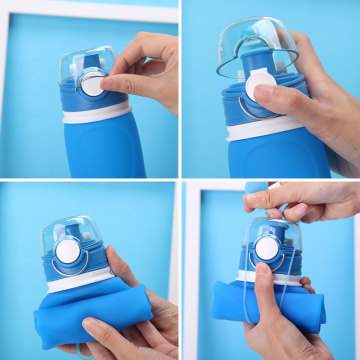 Large volume collapsible sport foldable water bottle