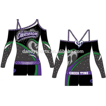 Hoʻolālā Fashion Design Asymmetrical Neckline Cheer Uniform