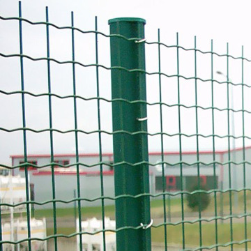 Green Plastic Euro Welded Wire Mesh Fence