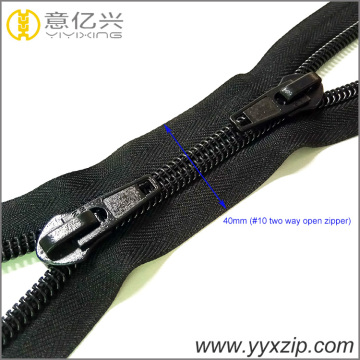 No.10 Two Way X Type Nylon Coil Zipper