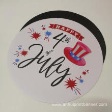 Full color print round shaped custom bumper sticker