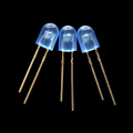 Blue 5mm Oval with Domed Top LED Lamps