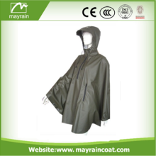 Long Rain Poncho PU Material for Adult