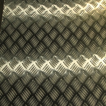 Aluminum Diamond Plate with Two Bar