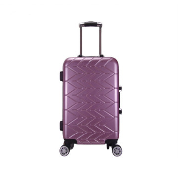 pvc material vintage luggage with 4 spinner wheels