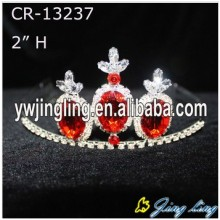 Red Crowns Rhinestone Wholesale Girls Tiaras