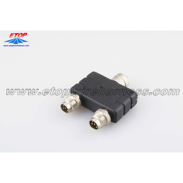 China for China Molded Waterproofing Cable Assemblies,Waterproof Wire Harness Manufacturer and Supplier waterproofing M8 adpater connector supply to United States Importers