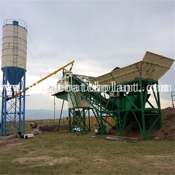 60 Wet Mobile Concrete Mixing Plant