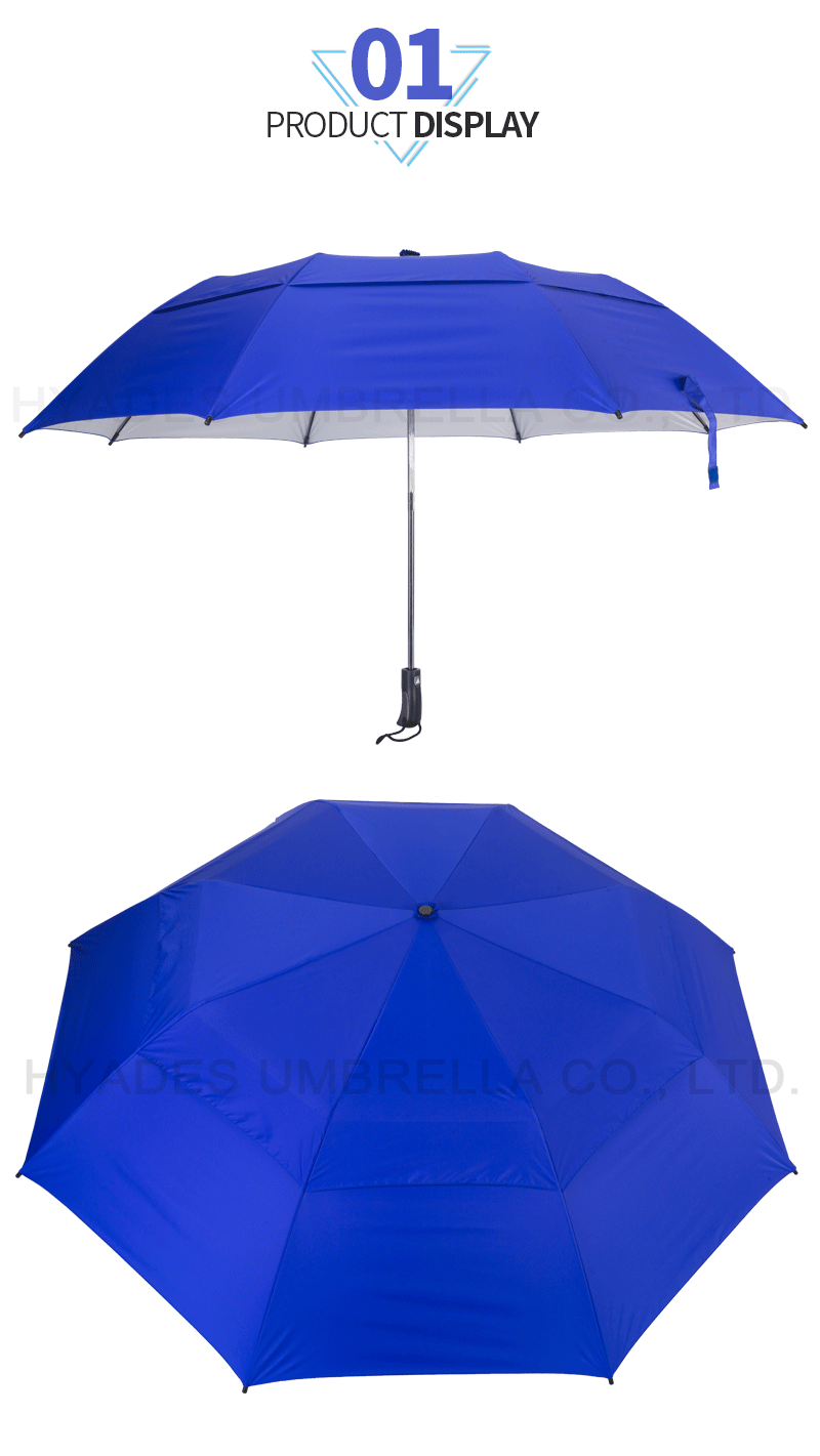 Vented Folding Golf Umbrella