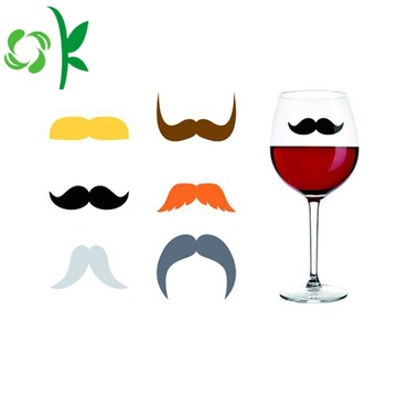 Silicone Wine Glass Identify Mustache for Party Markers