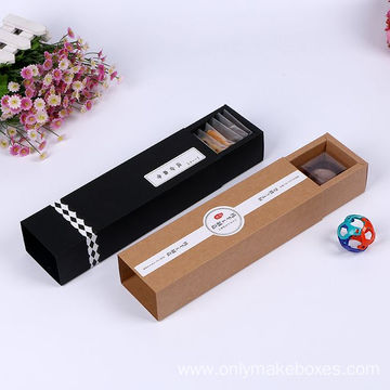 Silding Drawer Foldable Paper Box with paper Compartments