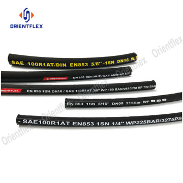 One steel wire hydraulic hose SAE 100r1 AT