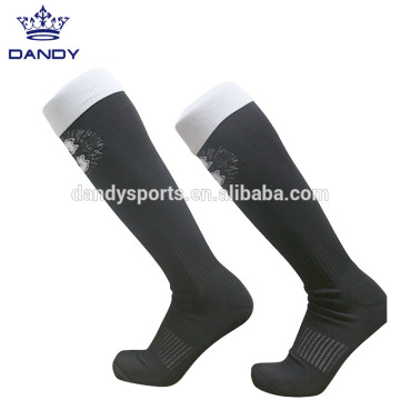 China for Black Rugby Socks custom rugby team over the knee socks export to Russian Federation Exporter