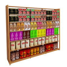 Big Discount for Single Side Supermarket Shelf Steel Wooden Single-Sided Display Shelves supply to Virgin Islands (British) Wholesale