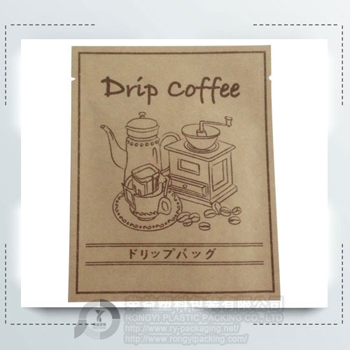 Kraft Paper Aluminum Pouch for Coffee