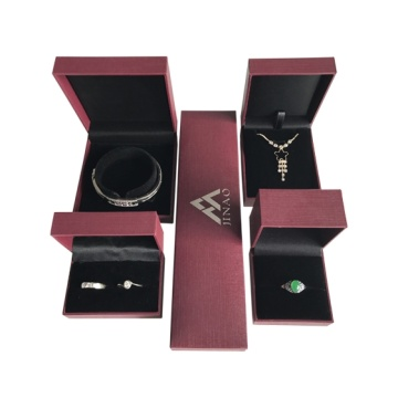 wholesale red jewelry box set for ring packing