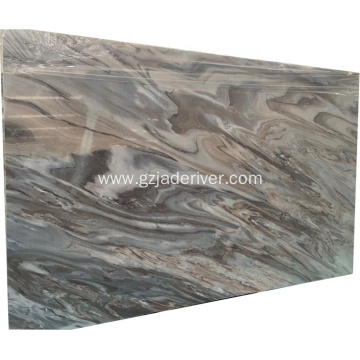 Customized Size Blue Marble Slab Tile for Bathroom