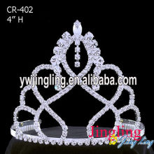 Holiday 4 Inch Rhinestone Pageant Crowns