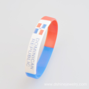 Elasticity Silicone Bands Printed Pattern Silicone Bracelet